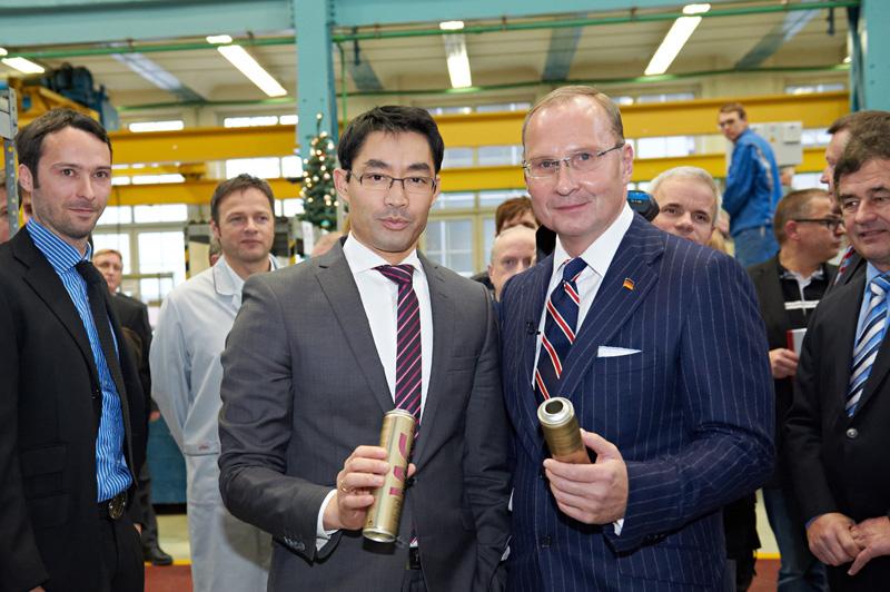 Vizekanzler und Bundeswirtschaftsminister zu Gast in Aue