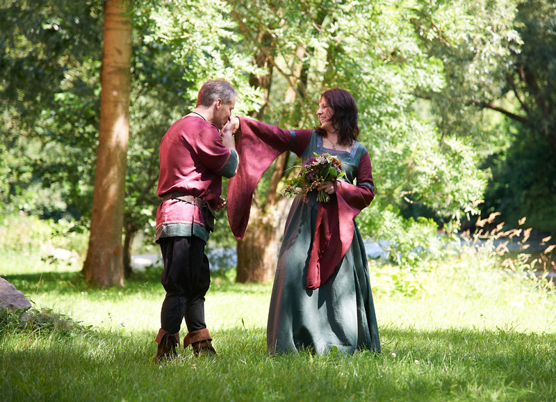Mittelalterliche Hochzeit auf Burg Stein  Foto-Atelier LORENZ