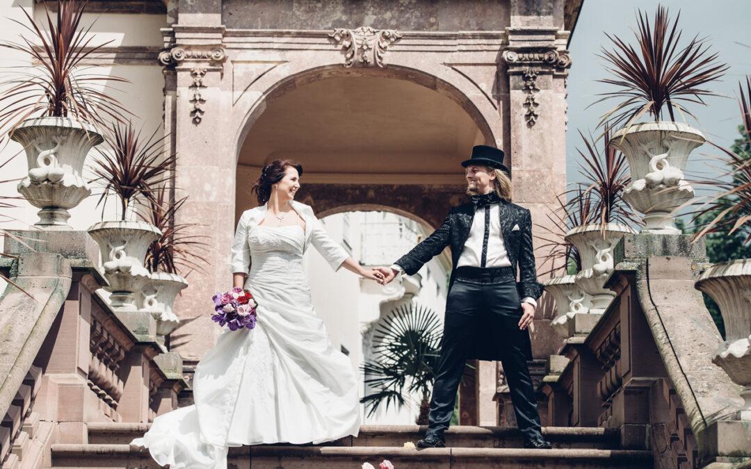Als Hochzeitsfotograf im Schloß Lichtenwalde unterwegs
